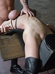 Dee is brutally bound in a category five sex position is completely stuck on the