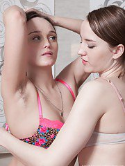 Rene and Yana Cey are enjoying tea when they are horny for each other. They strip