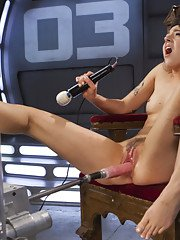 Lilith takes on the machines and gets fucked as hard as she can take it.