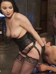 Veruca James is the boss bitch in this dungeon and Reed Jameson is her good little
