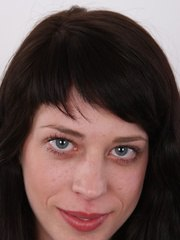 Check out this lovely waitress from Prague and her world premiere on camera. Denisa