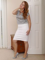 Hot British Milf Alison has you in her home under her sexy high heels and great legs