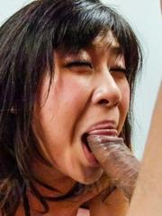 Kyoka Mizusawa gets strong penis in mouth and in aroused cooter