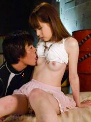 Marin Omi Asian licks strong penis before is fucked big style
