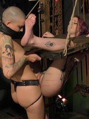 Slave jess was sent to the Sensual Pain Dungeon by her Master to be put through a