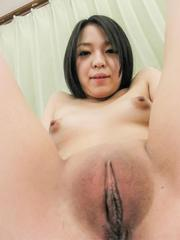 Natsuho sucks boner and wants it in asshole and in shaved pussy