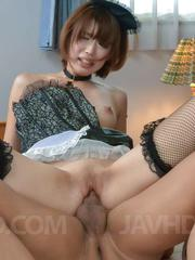Seira Matsuoka gets fingers in slit and cock in mouth before fuck