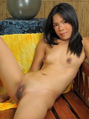 Petite country girl stripping and showing her brown orifices for a few bucks