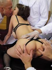 Akari Asagiri Asian with fine chest squirts while is fingered
