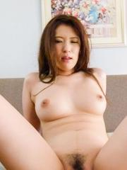Yui Kasuga Asian has slit licked and fucked after sucking tools