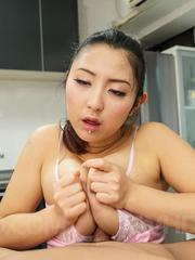 Yuri Honma Asian with hot behind licks cock she rubs with assets