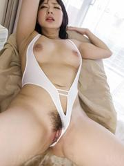 Megumi Haruka has hairy nooky aroused with vibrators till comes
