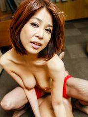 Erika Nishino takes dick between tits before is nailed in holes