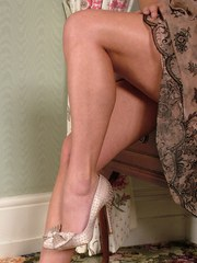 This blonde doll has some fantastic legs and she loves to show off her heels.