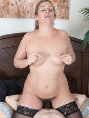 Alicia Silver sees her man on her bed and he starts undressing her and eating her
