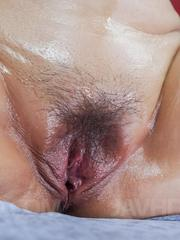 Reiko Shimura has labia spread and slit filled with dicks and cum