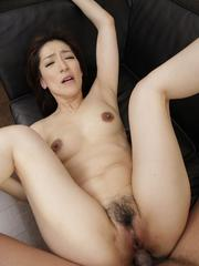 Marina Matsumoto has asshole fucked with fingers and with dong