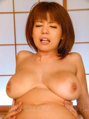 Airu Oshima Asian has huge jugs licked and hairy pussy pumped