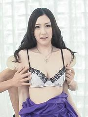 Kotone Amamiya is fucked big time after is aroused with sex toys