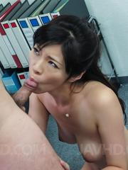 Sara Yurikawa takes skirt off to have crack fucked by sucked tool