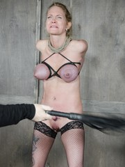 Rain DeGray is tied up all comfy and cozy down on her knees for Matt Williams where