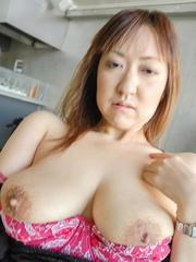Mayumi Asian with big cans sucks tool and enjoys real drilling