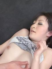 Asuka Mimi Asian is aroused a lot with vibrator and rides tool