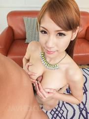 Nami Itoshino squeezes dong with hot tits and gets cum on face