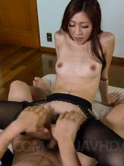 Kaori Maeda Asian in stockings is screwed so hard in her hot box