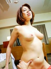 Erika Nishino Asian is nailed all the ways and gets cum in holes