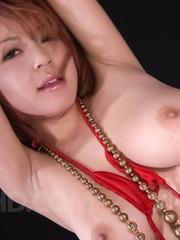 SARA Asian doll is tied and aroused with vibrators on hot curves
