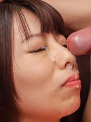 Akina Sakura gets vibrators in asshole and cunt and cum on face