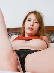 Nami Itoshino is licked under thong and before is pumped so hard