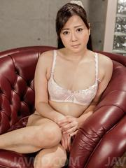 Mizuki Ogawa is fucked with vibrator in slit and gets cum on face