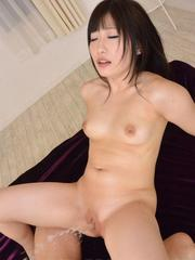 Arisa Nakano is doubled teamed and has big squirt when comes