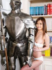 Nao Asian takes hot lingerie off and shows pussy in photo session