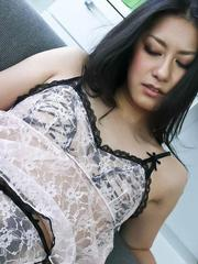 Kyoka Ishiguro Asian is undressed and aroused a lot with vibrator