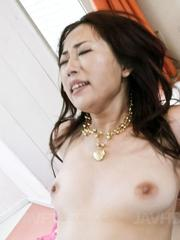 Yuu Uehara Asian in fishnets gets a lot of hard penis in vagina