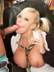 Naughty Schoolgirl slut Michelle Thorne is caught Smoking in the school library and