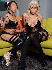 Briana Lee hanging out with a friend of hers and they get kinky with each other real