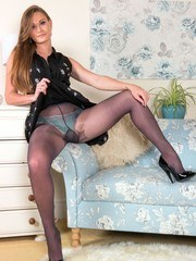 Enjoy some time with a very horny Honour as she strips off to skimpy panties and