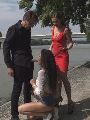 Tina Kay buys two Hungarian whores for Steve Holmes do do with what he pleases.