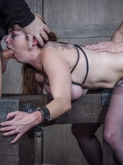 Heels thigh highs bound tits and hard metal. Industrial Deviance at its very best.