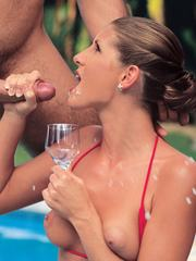 Hot wife on vacation enjoys sex pleasures at tourist resort