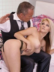 Naughty Hope Harper is sleeping in when her stepdad Marcus London tries to get her