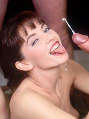 Blonde and redhead love to blowjob and get rammed in the ass