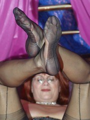 Dirty granny in stockings