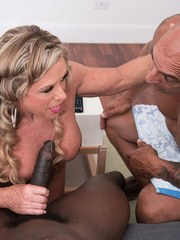 Missy takes a BBC in her ass. Hubby watches.