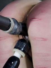 In this final installment of Useless Brat Bonnie gets her ass caned hard. The lines