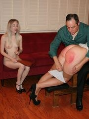 Violet enjoys watching Nikki getting spanked
